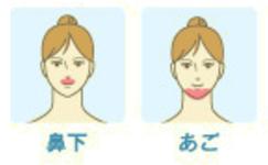 ミュゼの顔脱毛は鼻下とあご