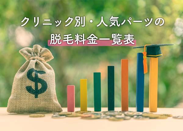 新潟で人気のクリニック別料金比較表